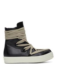 Zapatillas altas de cuero negras de Rick Owens