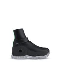 Zapatillas altas de cuero negras de Swear