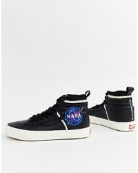 Zapatillas altas de cuero negras de Vans