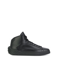 Zapatillas altas de cuero negras de Versace