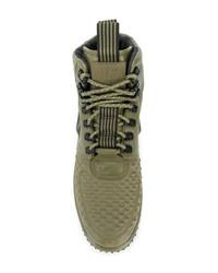 Zapatillas altas de cuero verde oliva de Nike