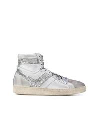 Zapatillas altas de lentejuelas plateadas de IRO