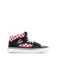 Zapatillas altas de lona a cuadros negras de Vans