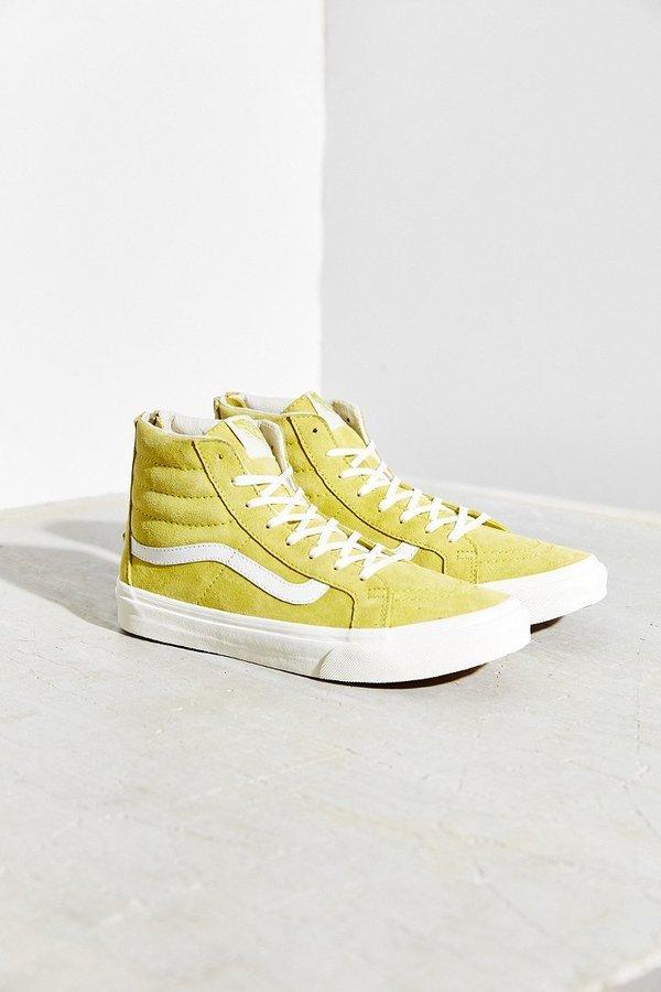 vans altas amarillas
