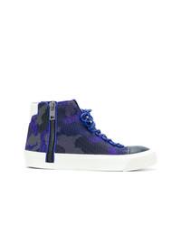 Zapatillas altas de lona azul marino de Diesel