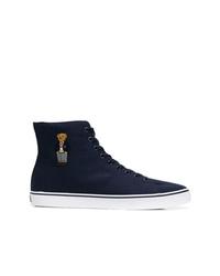 Zapatillas altas de lona azul marino de Polo Ralph Lauren