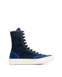 Zapatillas altas de lona azul marino de Sunnei