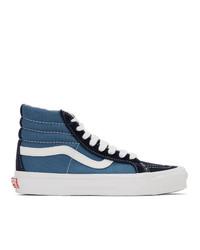 Zapatillas altas de lona azul marino de Vans