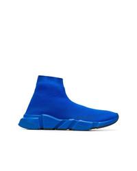 Zapatillas altas de lona azules de Balenciaga