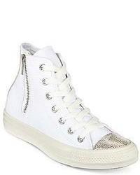 Zapatillas altas de lona blancas