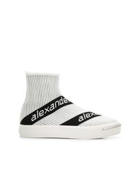 Zapatillas altas de lona blancas de Alexander Wang