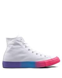 Zapatillas altas de lona blancas de Converse