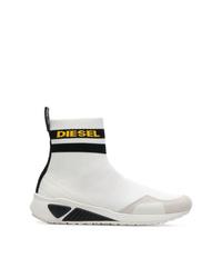 Zapatillas altas de lona blancas de Diesel