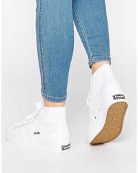 Zapatillas altas de lona blancas de Gola