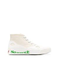 Zapatillas altas de lona blancas de Stella McCartney