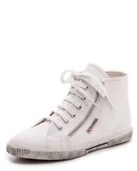 Zapatillas altas de lona blancas de Superga