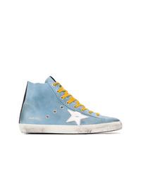 Zapatillas altas de lona celestes de Golden Goose Deluxe Brand