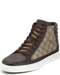 Zapatillas altas de lona en gris oscuro