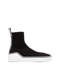 Zapatillas altas de lona en negro y blanco de Givenchy