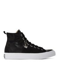 Zapatillas altas de lona en negro y blanco de McQ Alexander McQueen