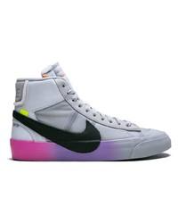 Zapatillas altas de lona estampadas grises