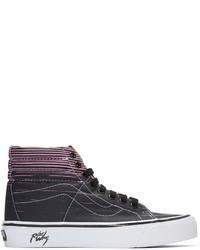 Zapatillas altas de lona estampadas negras