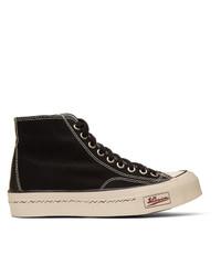 Zapatillas altas de lona estampadas negras de Visvim