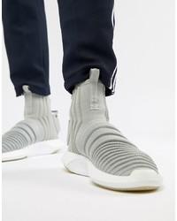 Zapatillas altas de lona grises de adidas Originals