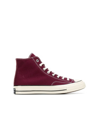 Zapatillas altas de lona morado oscuro
