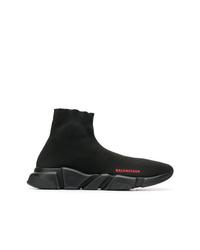 Zapatillas altas de lona negras de Balenciaga