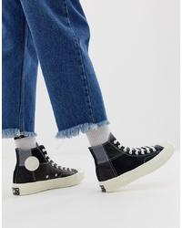 Zapatillas altas de lona negras de Converse