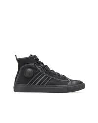 Zapatillas altas de lona negras de Diesel