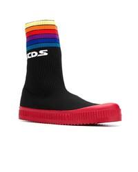 Zapatillas altas de lona negras de Gcds