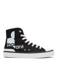Zapatillas altas de lona negras de Isabel Marant