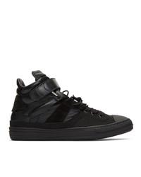 Zapatillas altas de lona negras de Maison Margiela