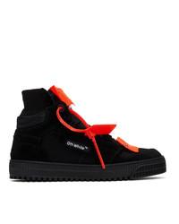 Zapatillas altas de lona negras de Off-White