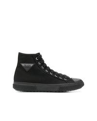 Zapatillas altas de lona negras de Prada