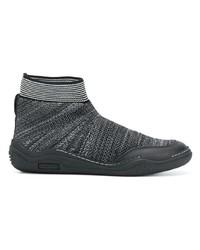 Zapatillas altas de lona negras de Lanvin