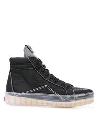 Zapatillas altas de lona negras de Rhude