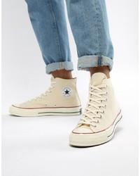 Zapatillas altas de lona rosadas de Converse