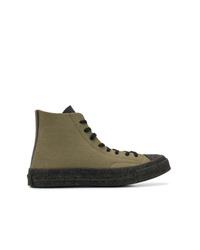 Zapatillas altas de lona verde oliva de Converse X JW Anderson