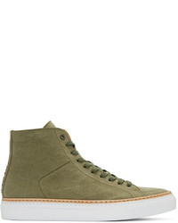 Zapatillas altas de lona verde oliva de No.288