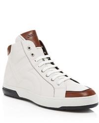 Zapatillas altas en blanco y marron original 3811194