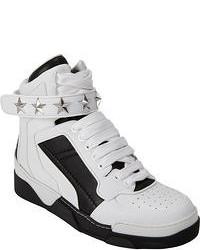 Zapatillas altas en blanco y negro