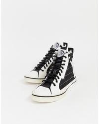 Zapatillas altas en blanco y negro de Diesel