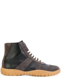 Zapatillas altas en gris oscuro