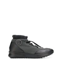 Zapatillas altas en gris oscuro de Baldinini