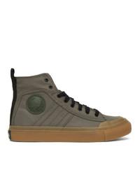 Zapatillas altas en gris oscuro de Diesel
