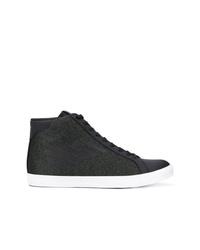 Zapatillas altas en gris oscuro de Ea7 Emporio Armani