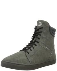 Zapatillas altas en gris oscuro de Esprit